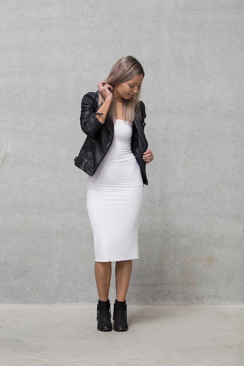 Pencil Skirt Adults - White