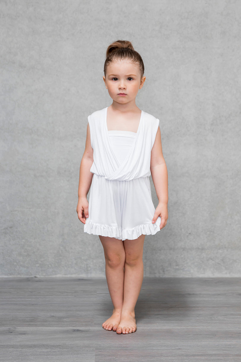 Frill Playsuit Kids - Cloud