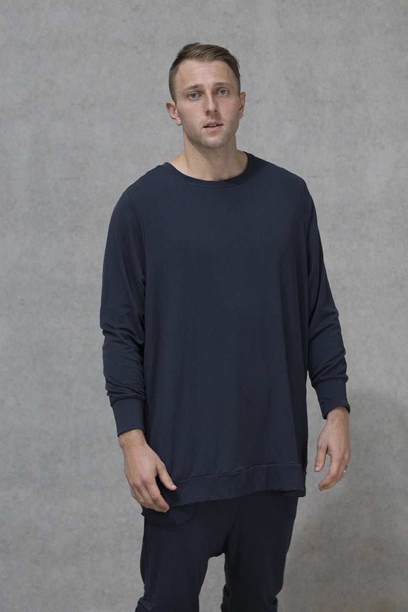 Oversize Jumper French Terry Adults - Deep Navy