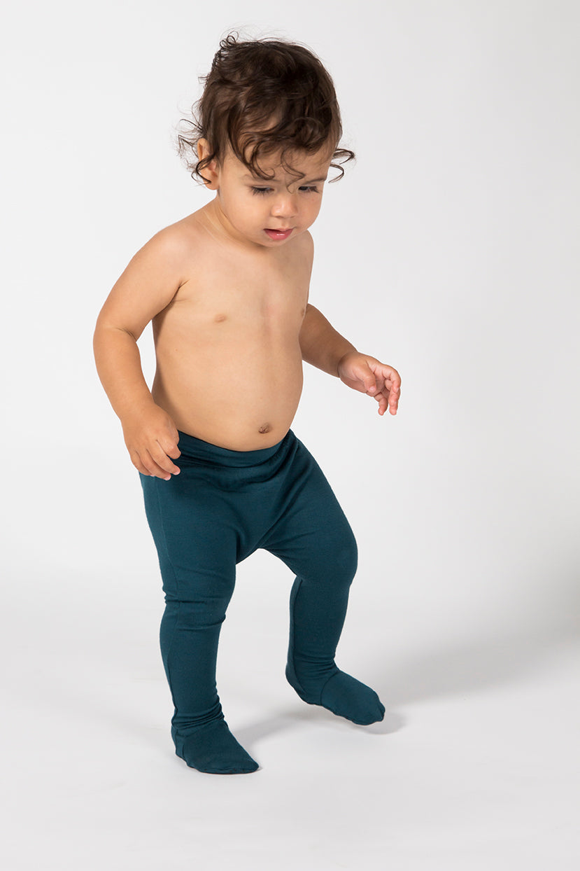 Baby Footed Leggings - Emerald