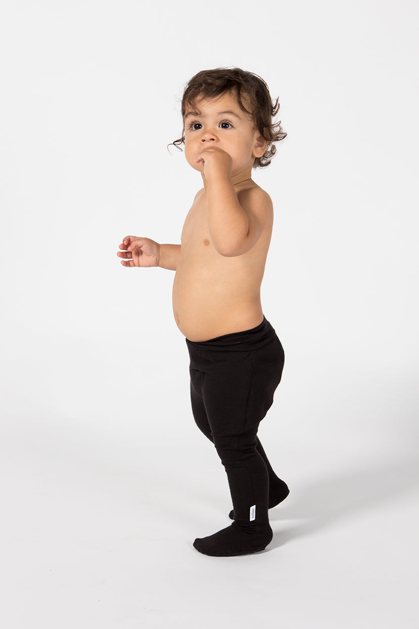 Baby Footed Leggings - Midnight