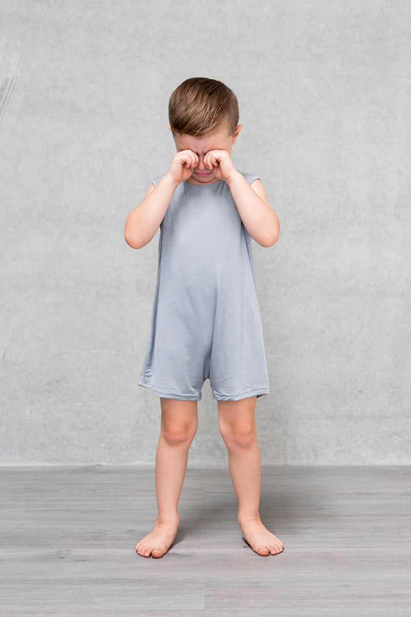 Basic Short Romper Kids - Mist