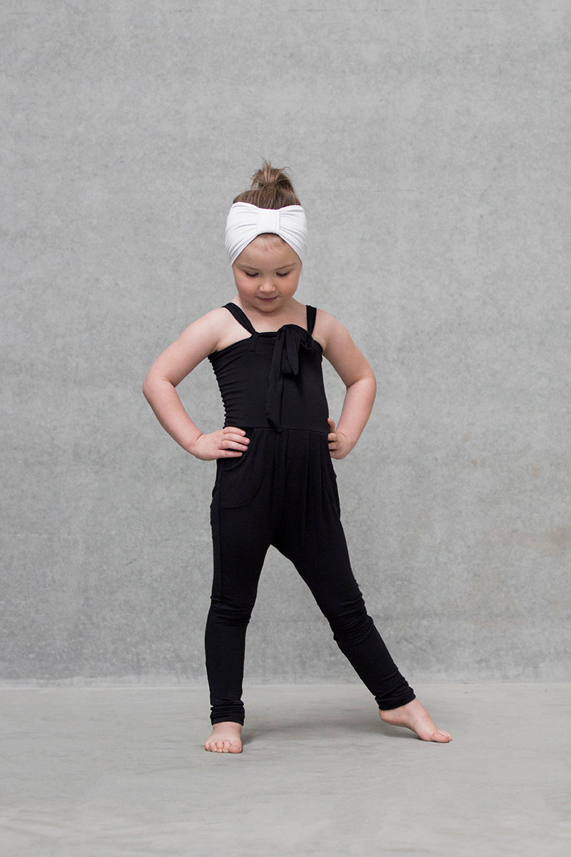 Staple Harem/romper Kids - Black