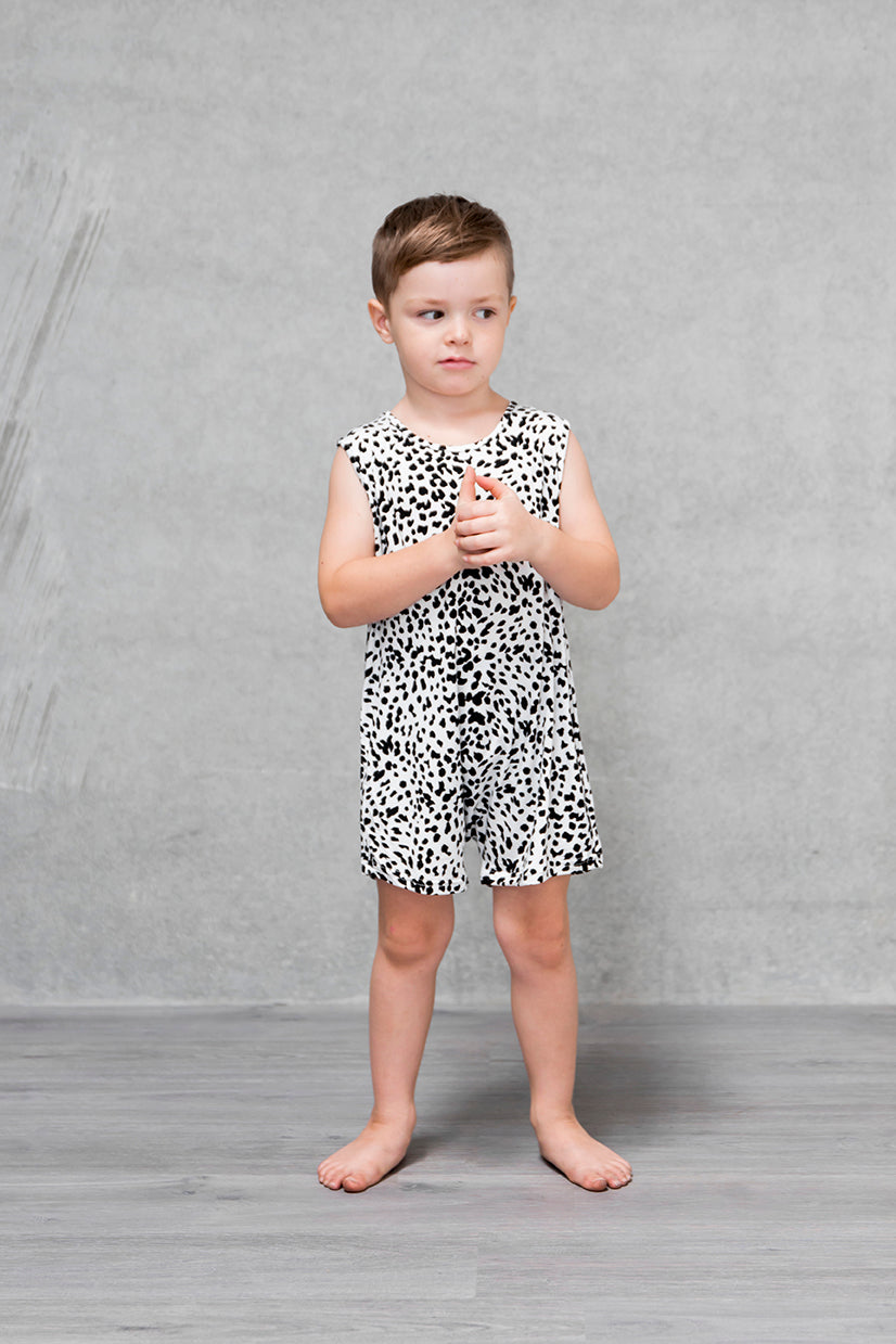 Basic Short Romper Kids - Lynx