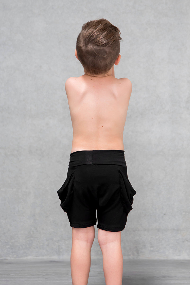 Drape Pocket Shorts Kids - Raven