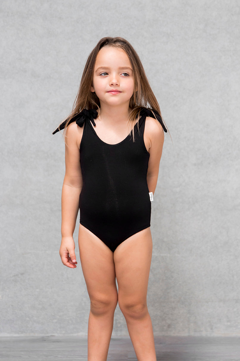 Bow Bodysuit Kids - Raven