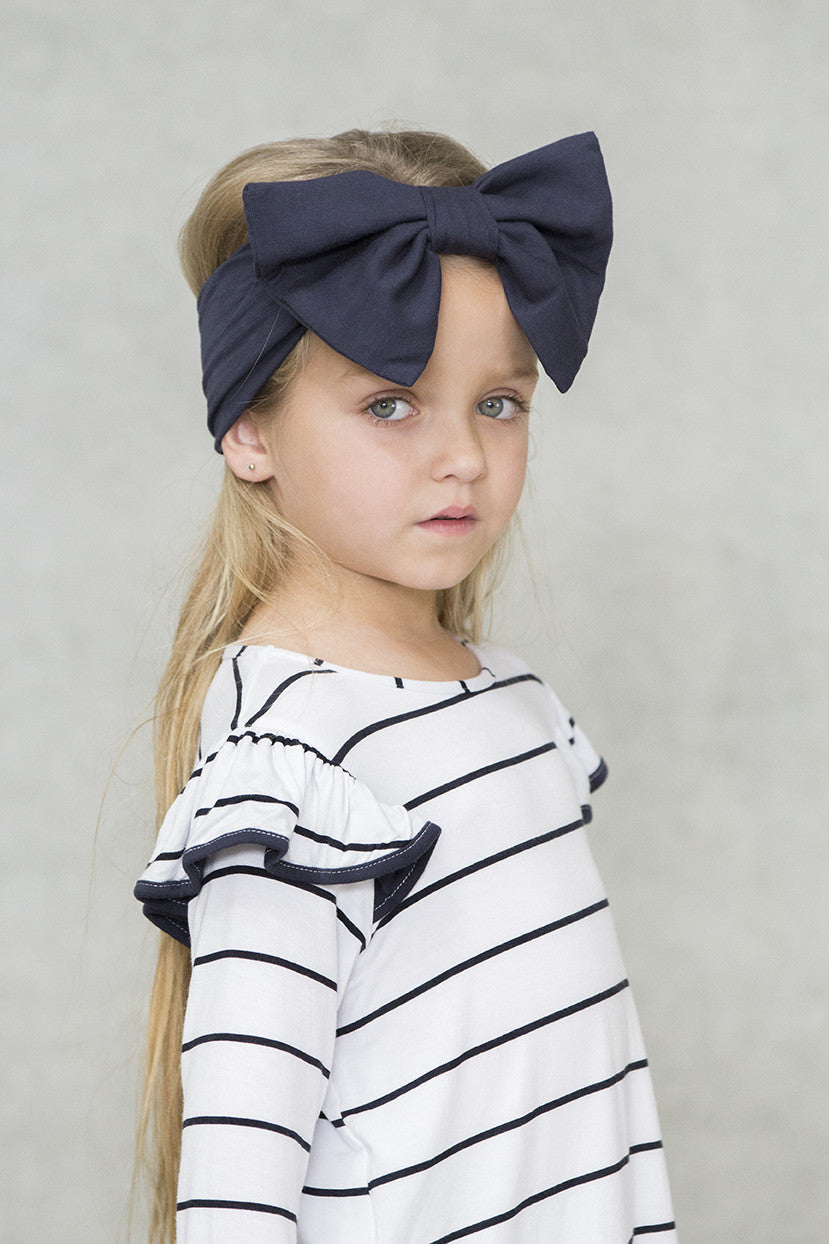 Big Bow Deep Navy