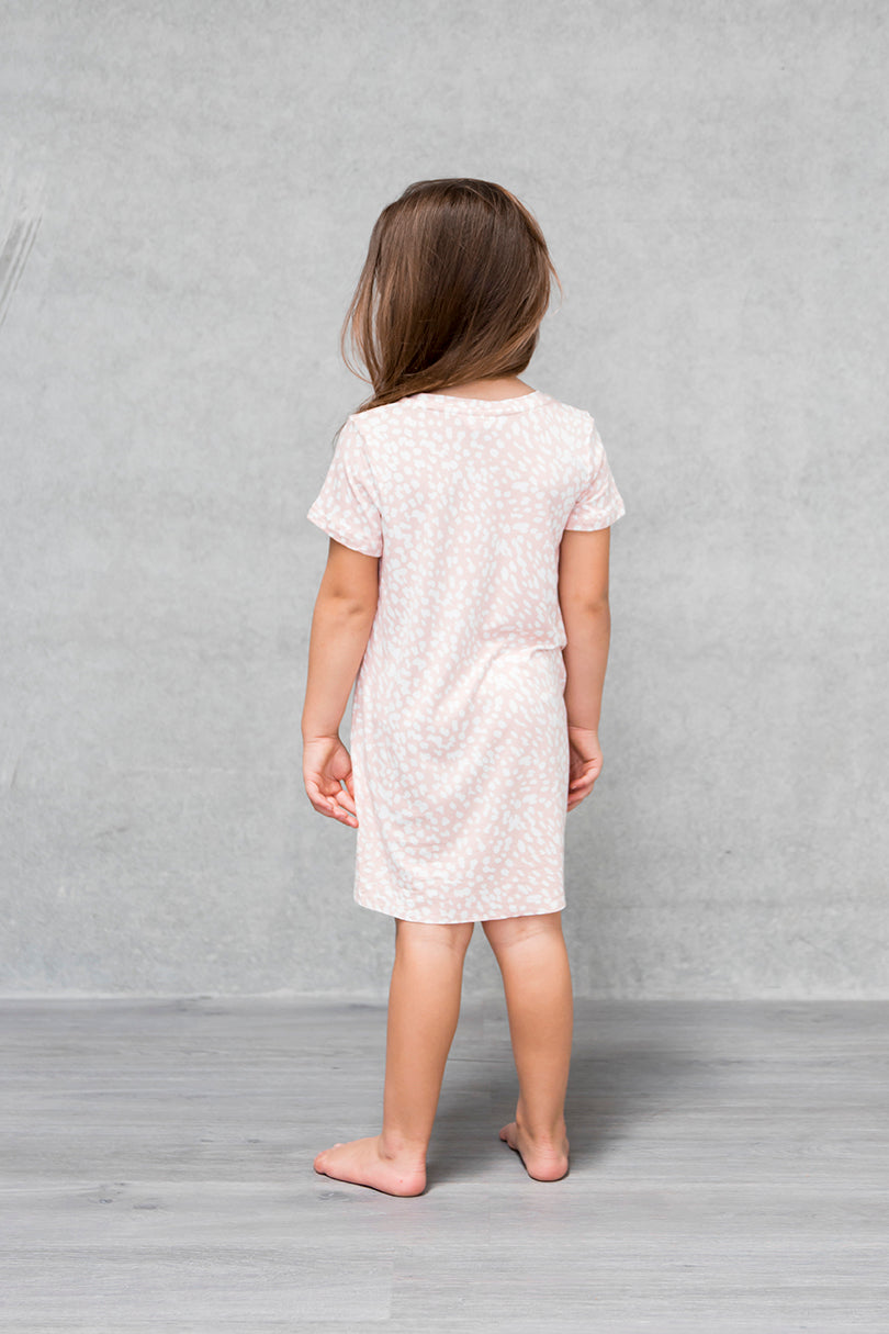 S/S Tee Dress Kids -  Bambi