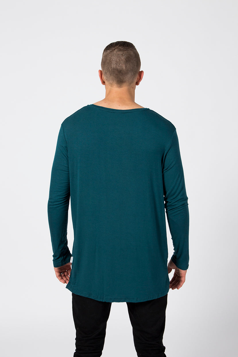 LS Pocket Tee - Emerald
