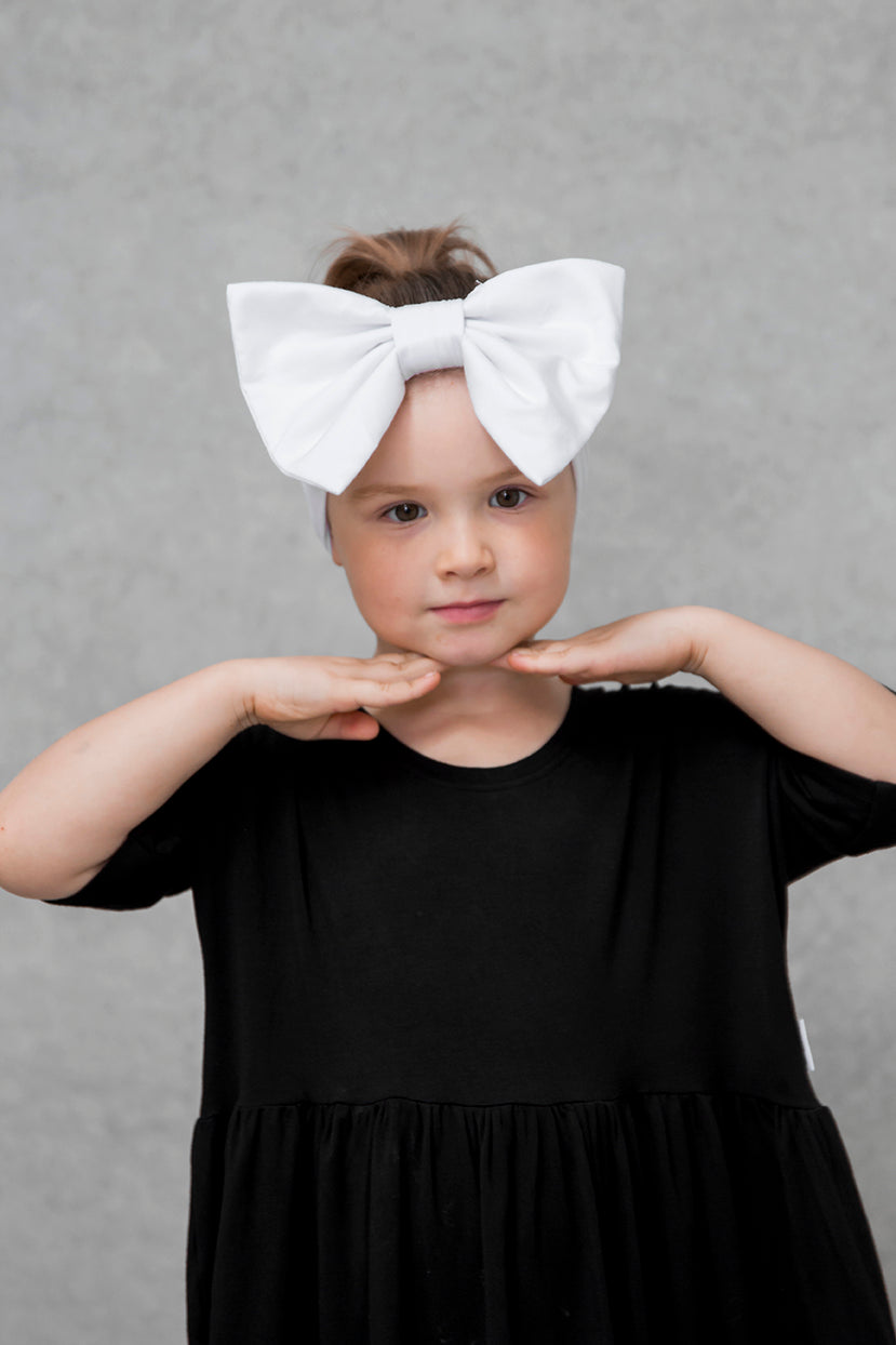 Big Bow Headband - Cloud