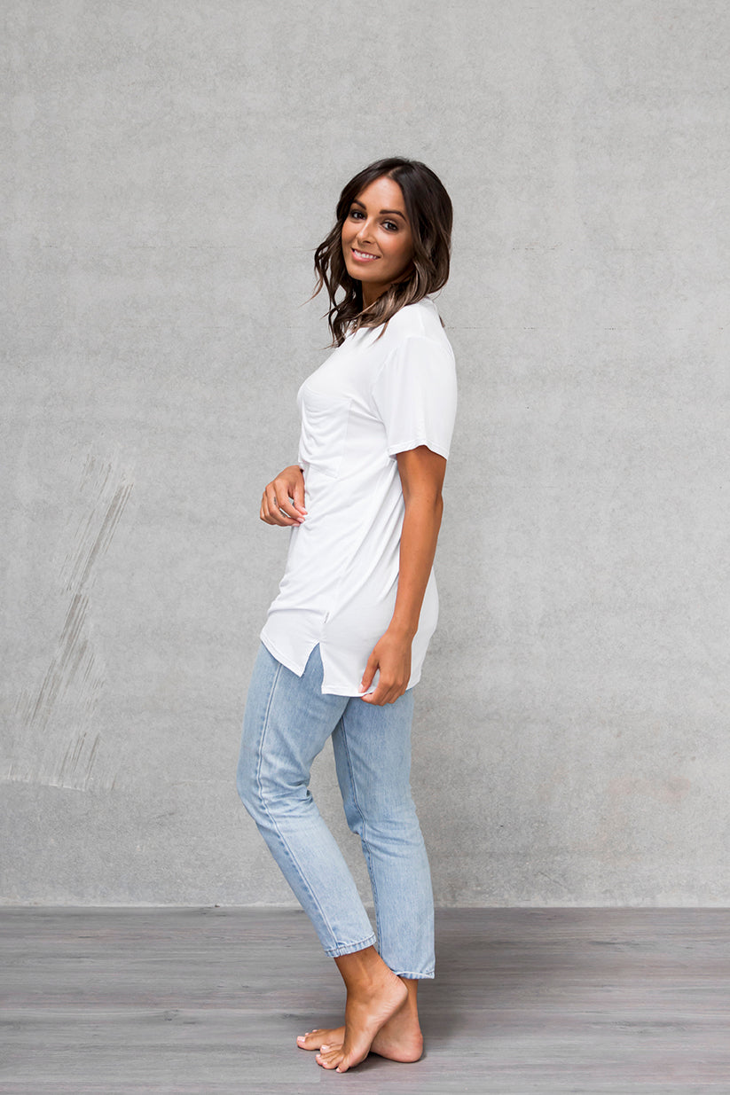 Unisex Pocket Tee - Cloud