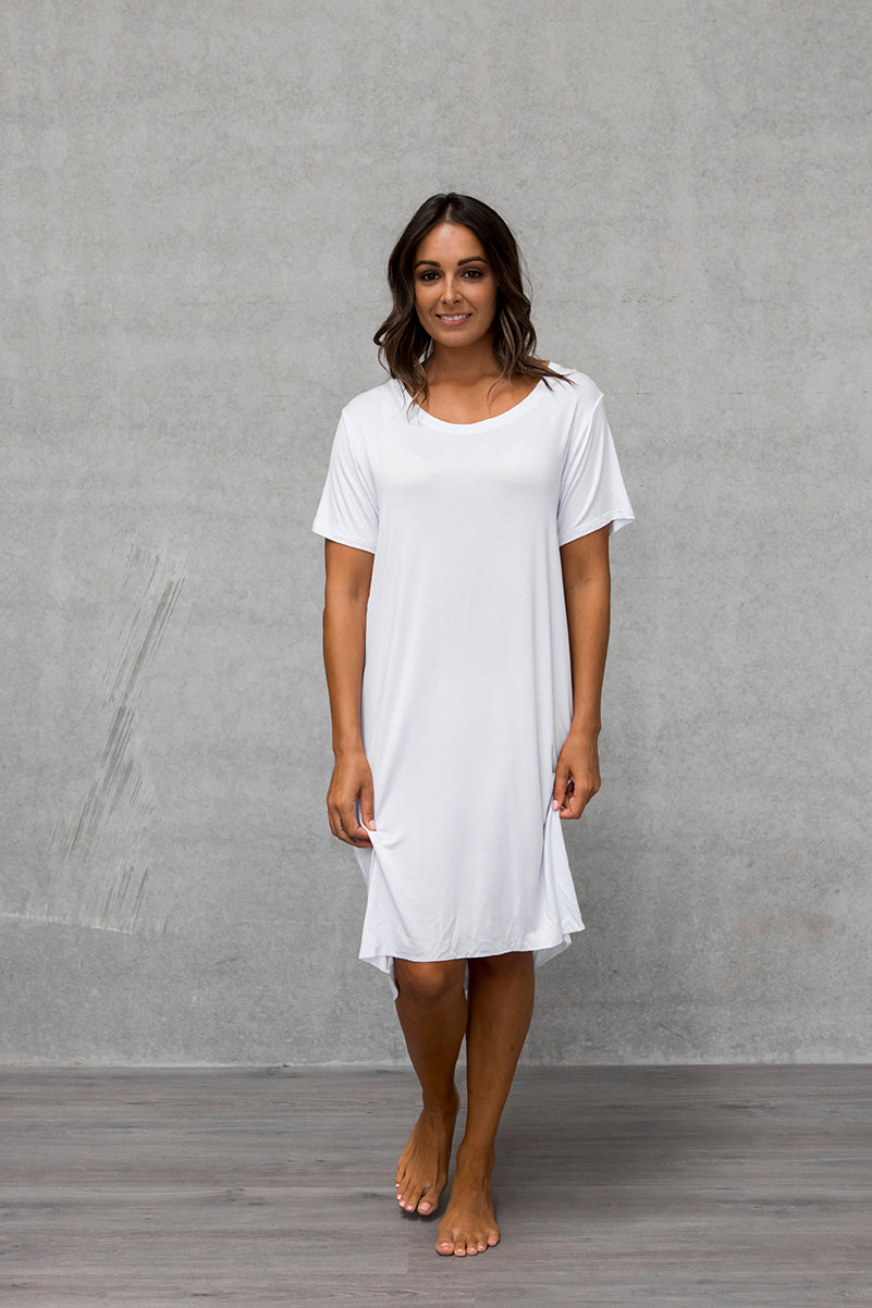 S/S Tee Dress - Cloud