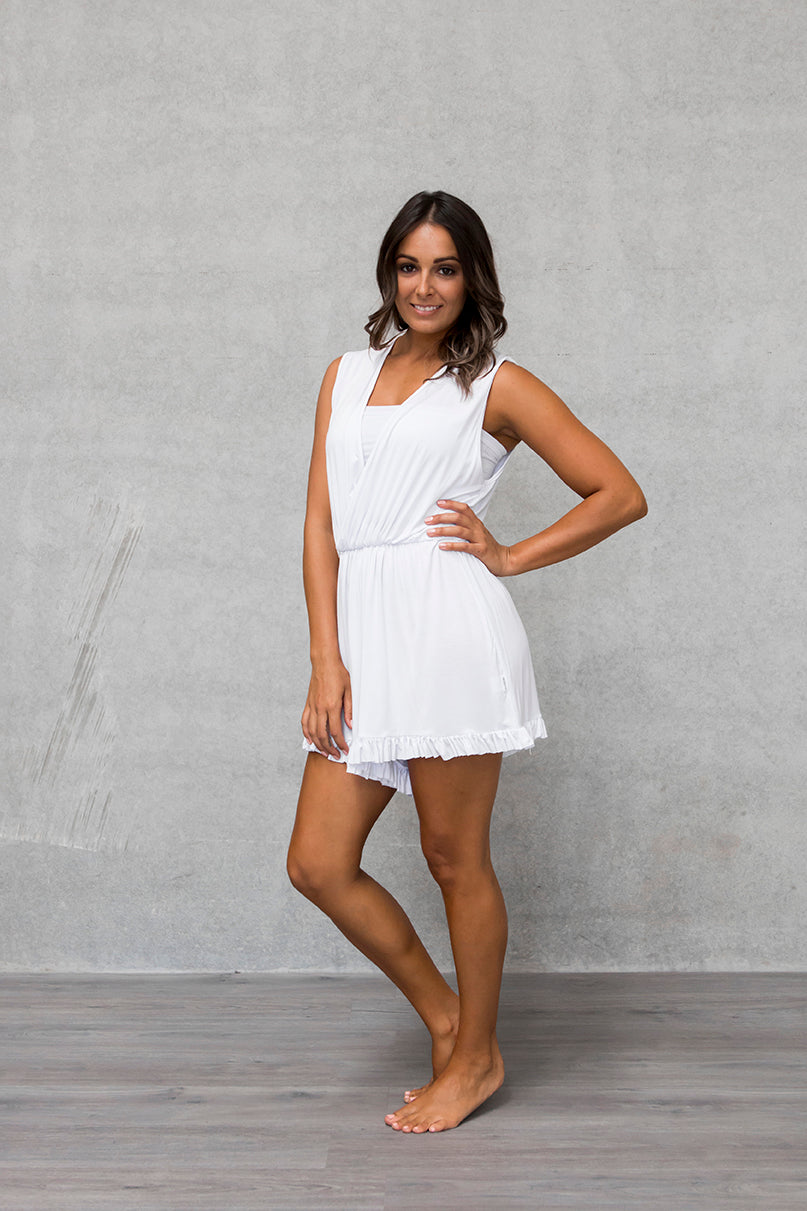 Frill Playsuit - Cloud