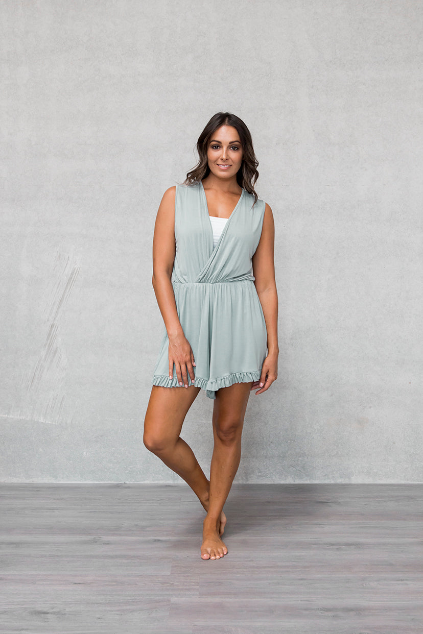 Frill Playsuit - Willow