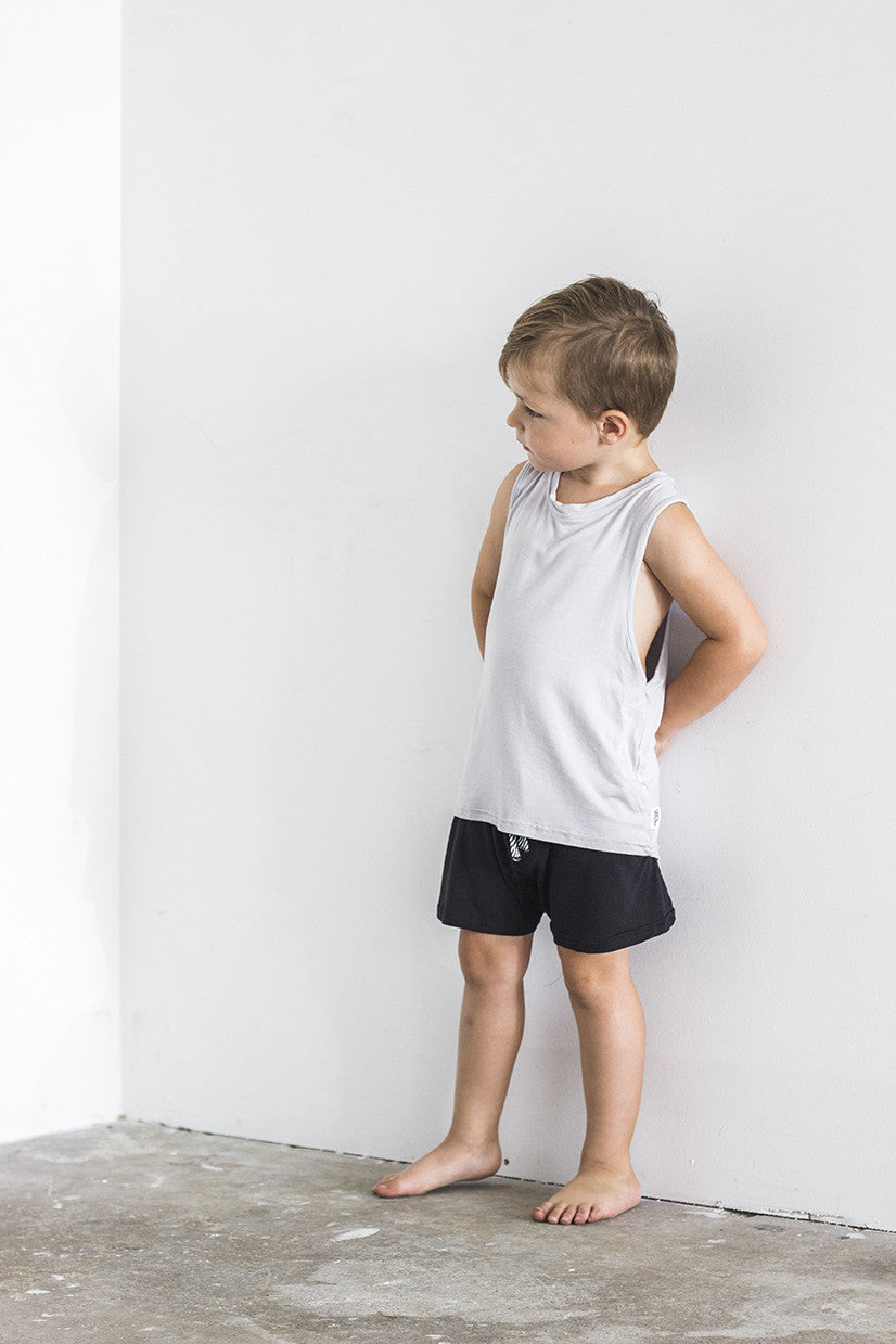 Racer Singlet Grey - Kids