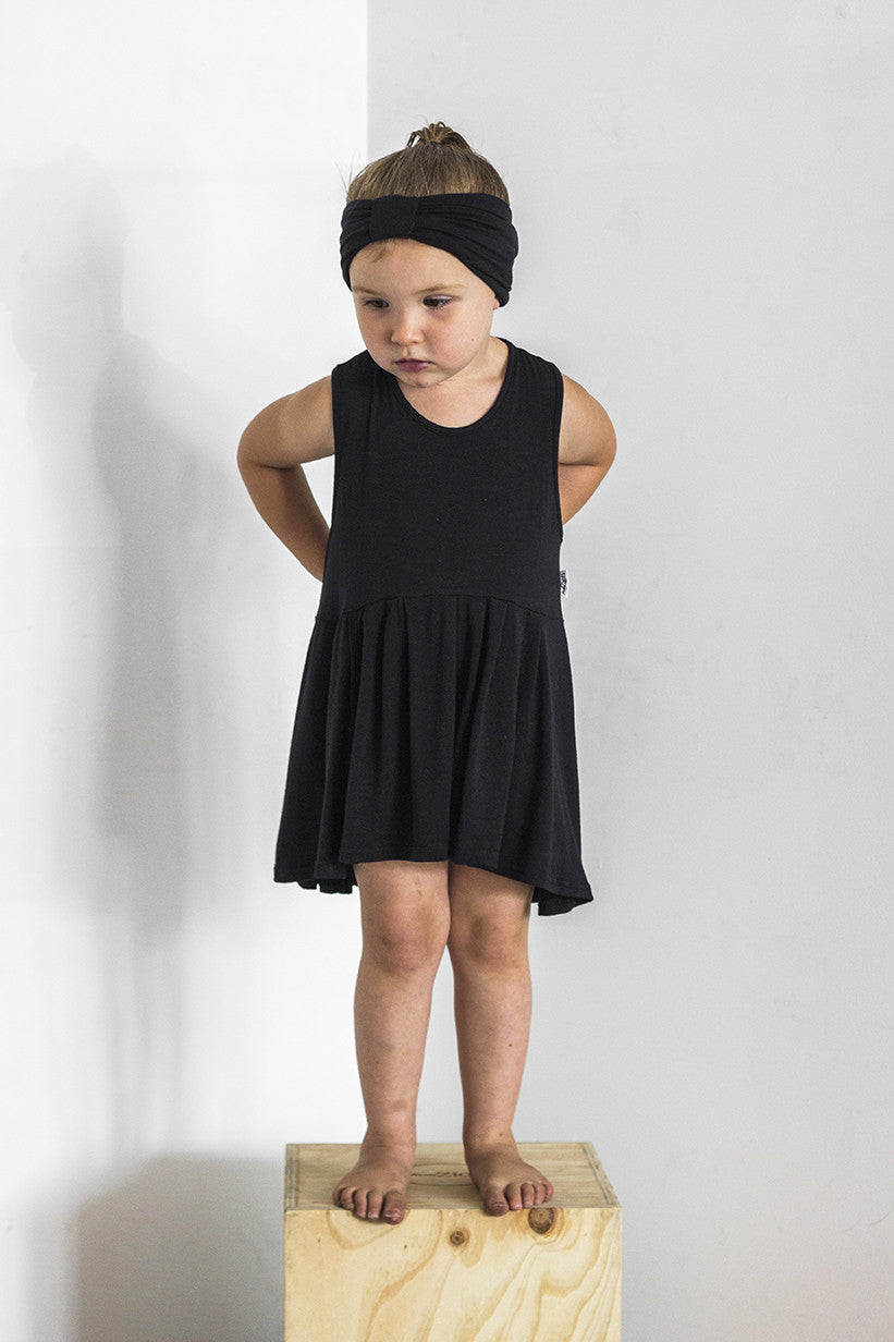 Swing Singlet Black - Kids