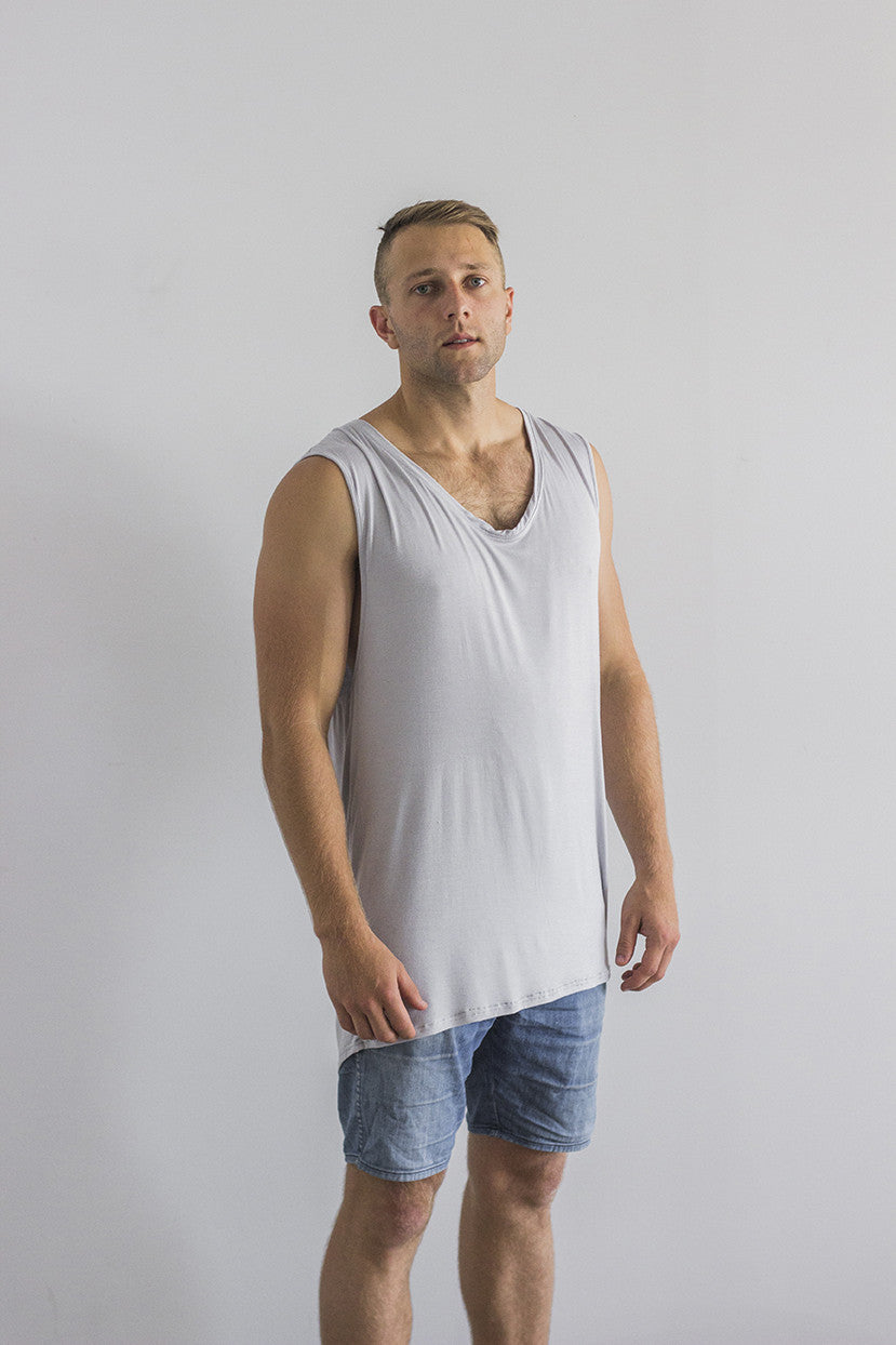 Racer Singlet Grey Adults
