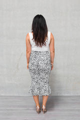 LIMITED EDITION 'Ruffle' Pencil Skirt - Lynx