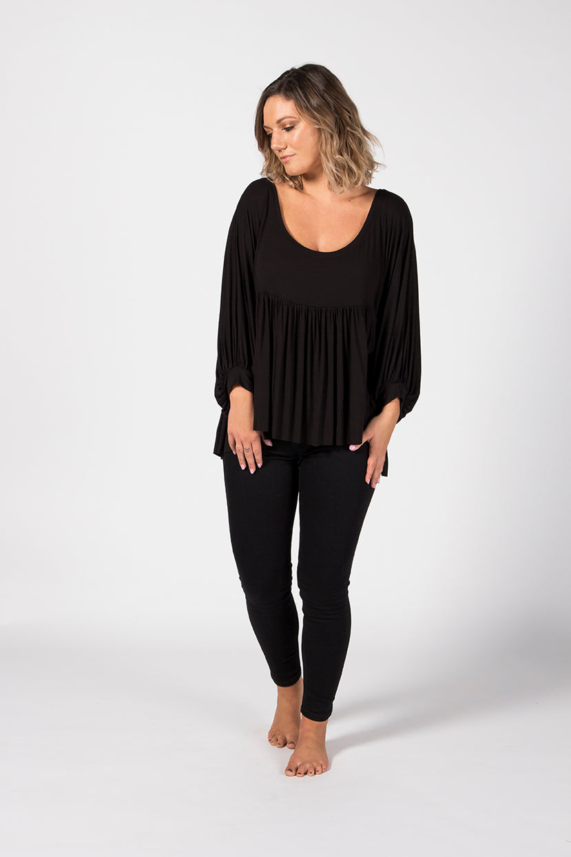 Batwing Top - Midnight
