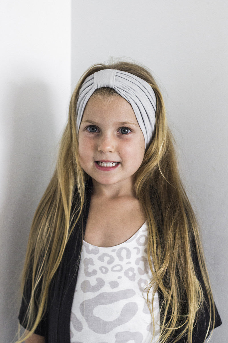 Turban Headband Grey - kids and adults