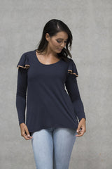 Ruffle Top Adults - Deep Navy