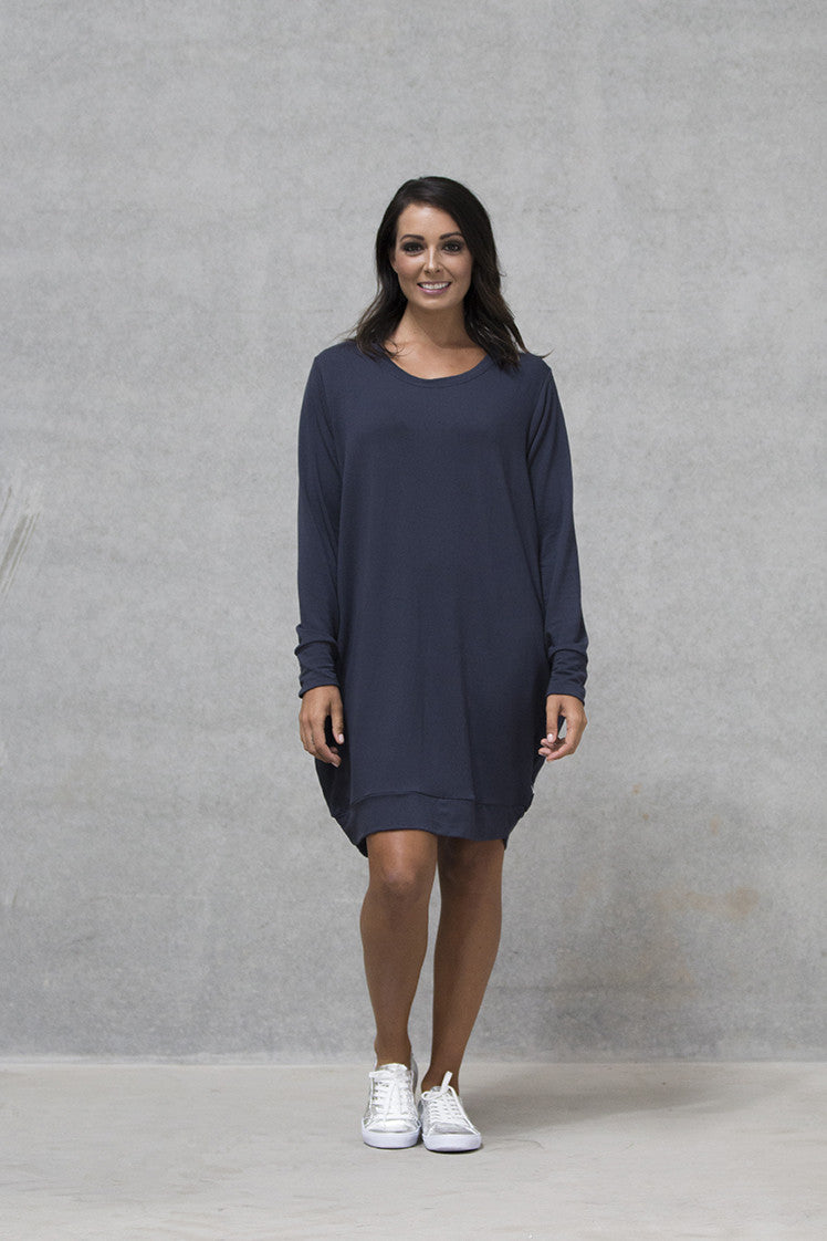 Oversize Jumper dress French Terry Adults - Deep Navy