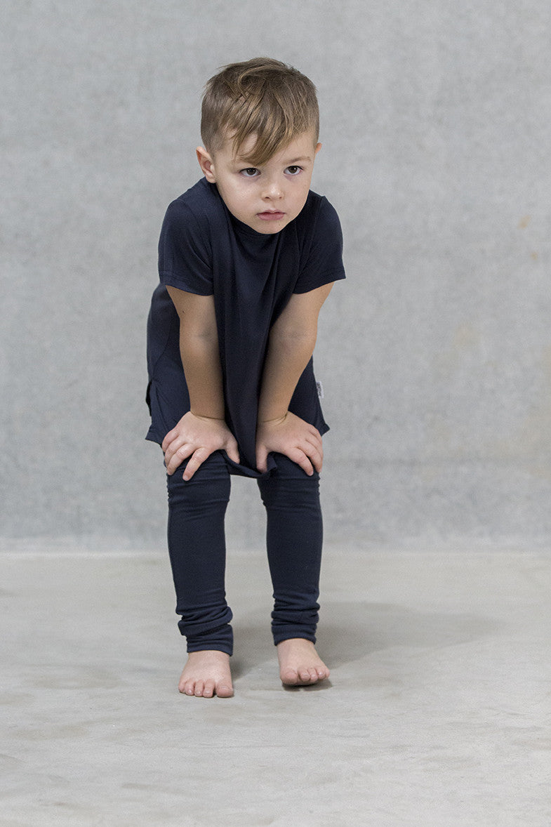 Spine Tee Kids - Deep Navy