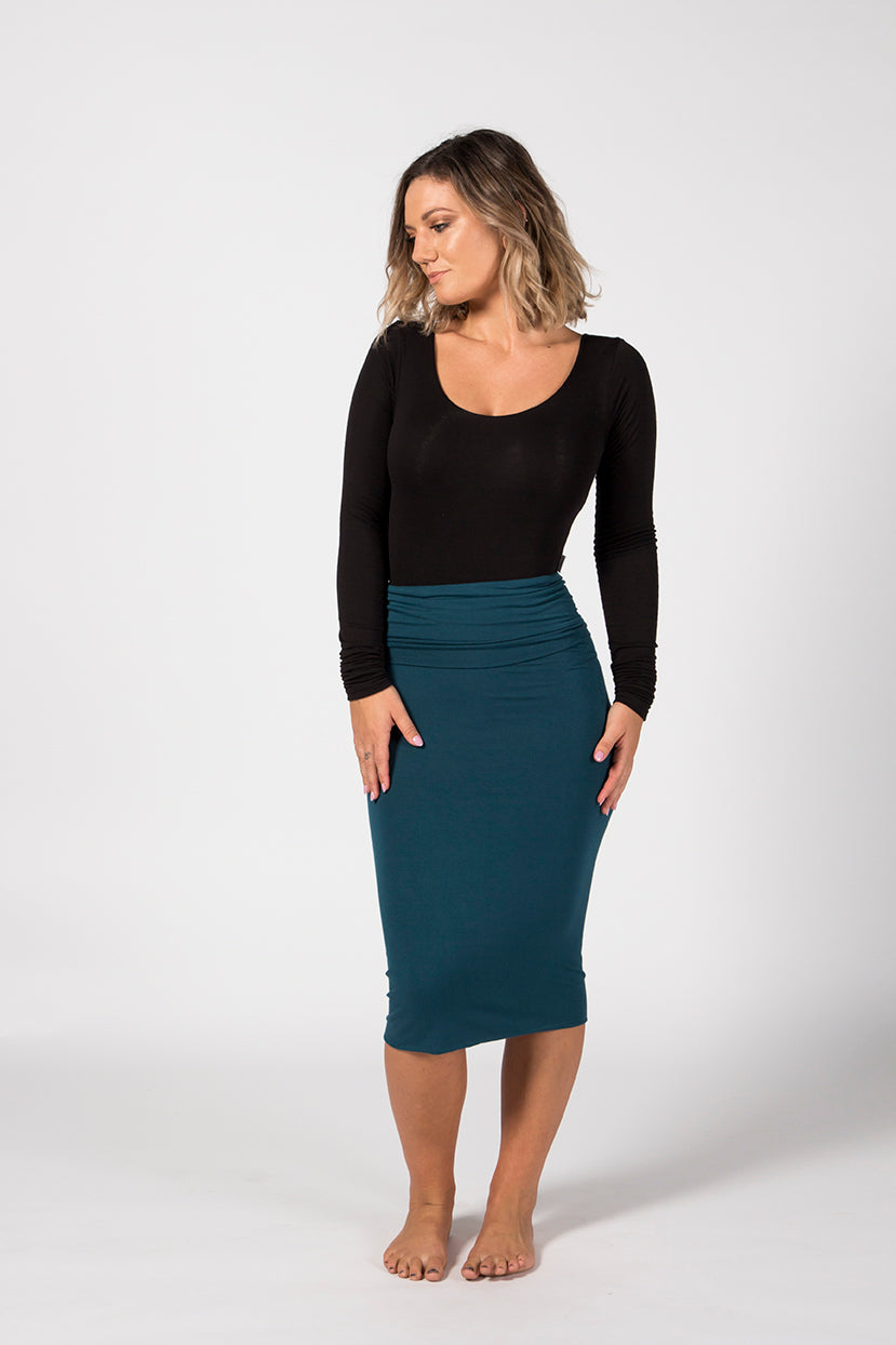 Pencil Skirt - Emerald