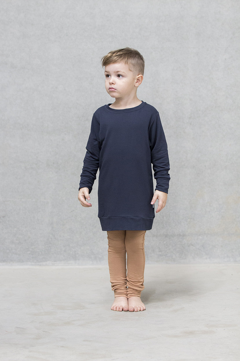 Oversize Jumper French Terry Kids - Deep Navy