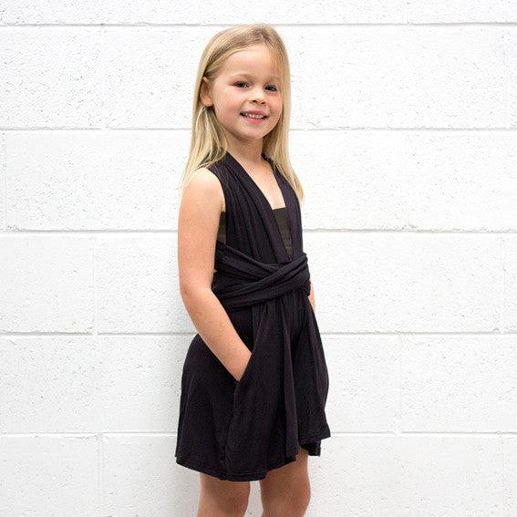 KIDS Black Playsuit