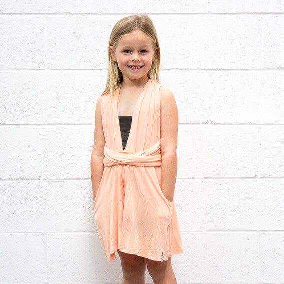 KIDS Peach Playsuit