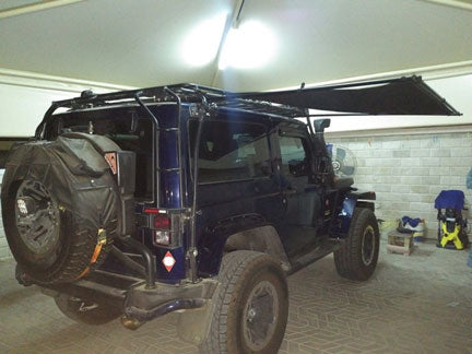 2 Door Jeep with Gobi Roof Rack