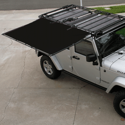 Sir-Shade™ Telescoping Awning System JK 4-Door for Gobi Rack