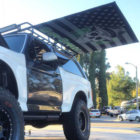 Sir ShadeTM Telescoping Awning Universal Custom Size For Any Roof Rack