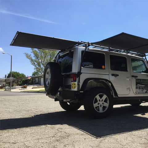Sir-Shade™ Telescoping Rear Awning JK 2/4-DR For Gobi Rack
