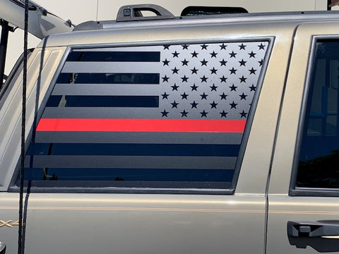ZJ rear passenger and driver window US flag (Set of 2)
