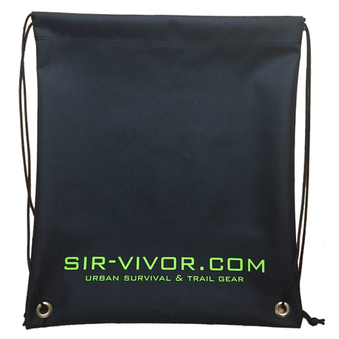 Sir-Vivor Pull String Trail Bag Die-sub printed