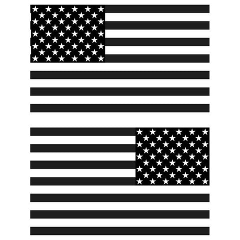 "American Flag Decal 6"" x 3.5"" Set of 2, click to see available colors."