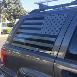 WJ rear passenger and driver window US flag (Set of 2)