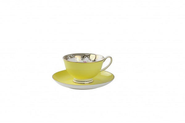 Spring Fling Teacup and Saucer Yellow