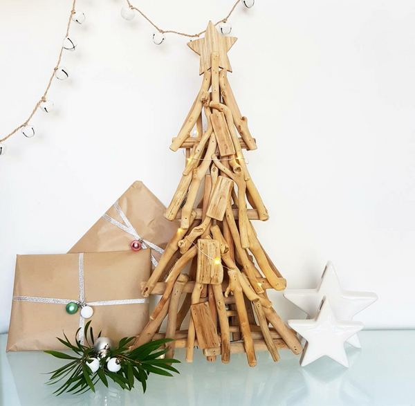 Driftwood Christmas Tree with Lights Large