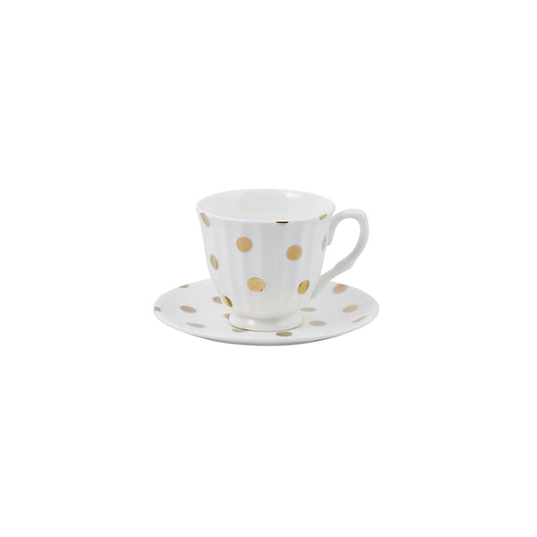 Robert Gordon Goldie Cup and Saucer White
