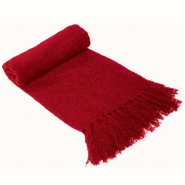 Boucle Throw Rug Chilli