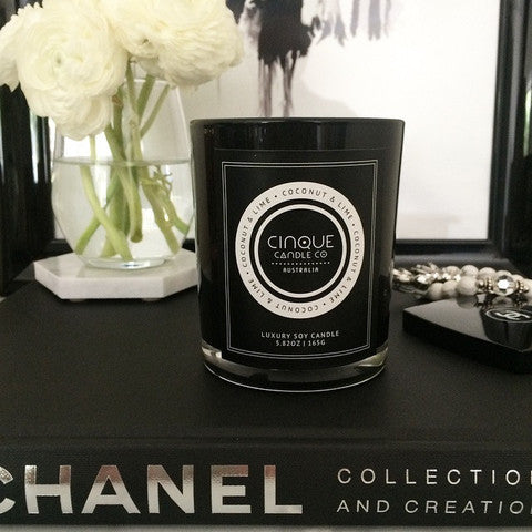 Coconut & Lime Candle Black Classic Jar