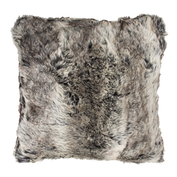 Faux Fur Large Cushion Chinchilla
