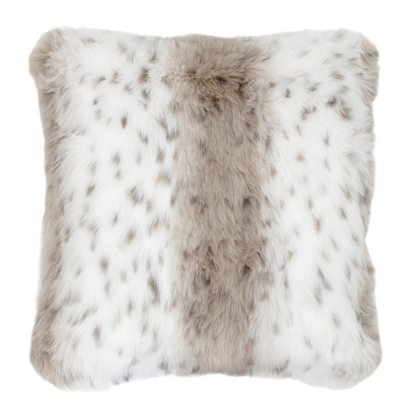 Faux Fur Large Cushion Snow Leopard