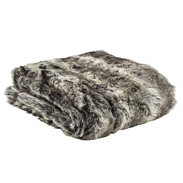 Faux Fur Throw Rug Chinchilla