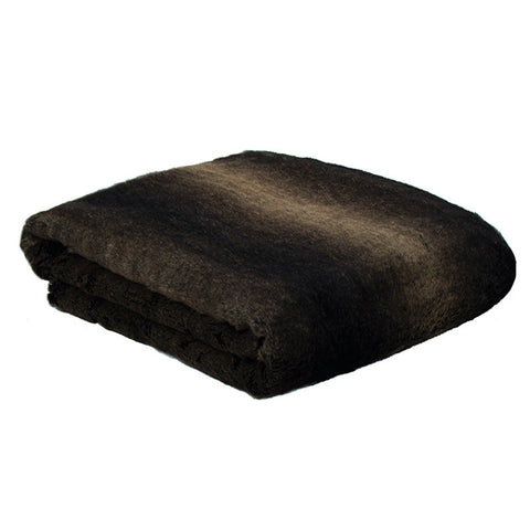 Faux Fur Throw Rug Kodiak