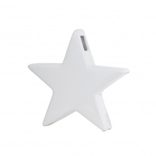 Star shaped ceramic vase is perfect for the fast approaching Christmas season. White 19.5cm x 19.5cm, Ceramic. Mint Empire Homewares