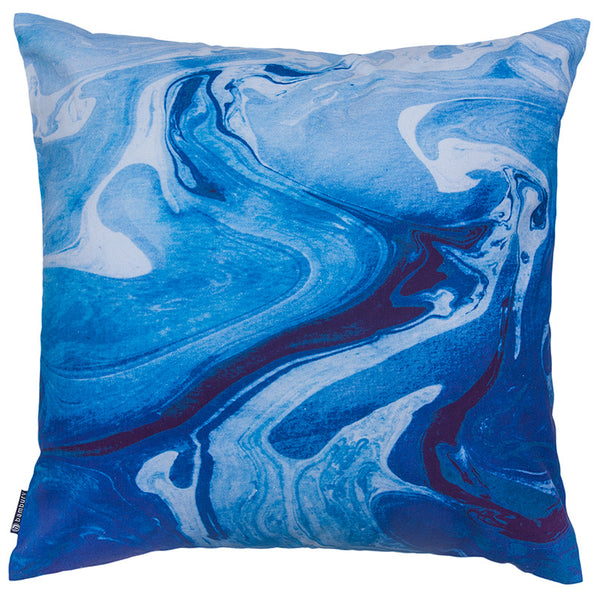 Bambury Marble Cushion Blue